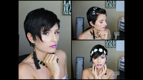 3 Ways To Style A Pixie Cut!  Pinkl0vexx Youtube