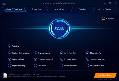 advanced systemcare ultimate free download and software