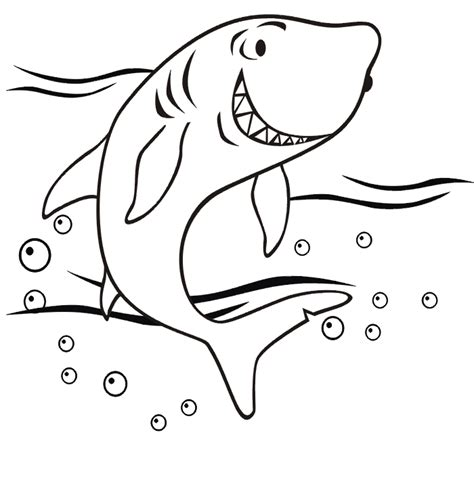 Coloring Shark by Shark Coloring Pages Getcoloringpages