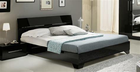 meuble chambre à coucher lit gloria noirl 150 x h 83 x p 198