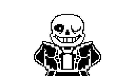 Sans Black And White Sprite Animation By