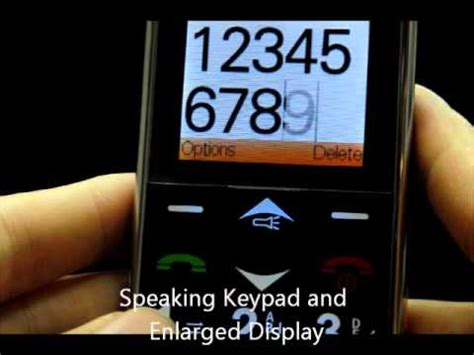 big phone number senior cell phone with big button speaking keypad