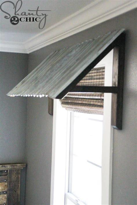 diy corrugated metal awning shanty  chic metal awning diy awning home