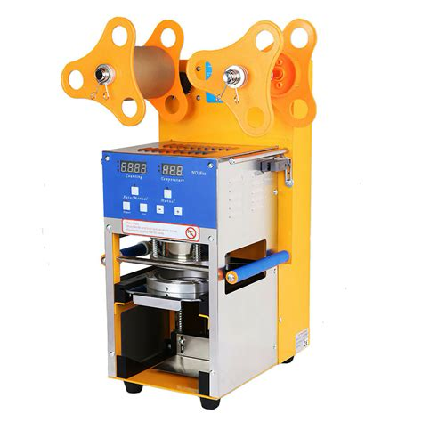 fully automatic cup sealer sealing machine   cuphr boba coffee bubble tea econosuperstore