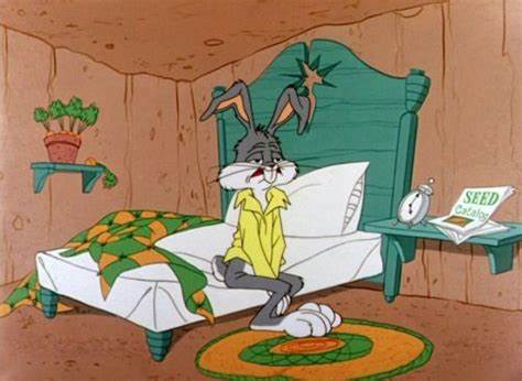 Getting Up Early On Mondays Bugs Bunny Wedding Tired
