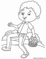 Walking Boy Nasturtium Coloring Pages sketch template