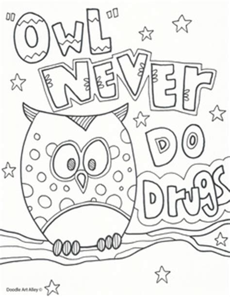 red ribbon week coloring pages  printables classroom doodles