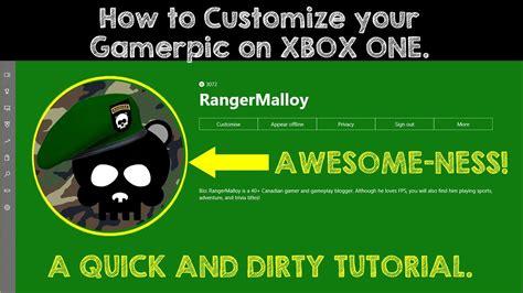 how to upload a custom gamerpic on xbox one