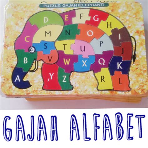 puzzle mainan kayu hewan o store puzzle kayu huruf alfabet karakter hewan