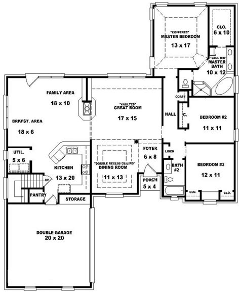 3 bed 2 bath floor plans 653884 traditional 3 bedroom 2 bath house with open floor plan house plans floor plans