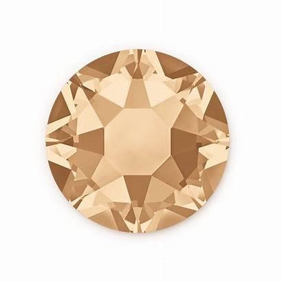 Swarovski Crystal Shadow Golden Flat Hotfix 2078