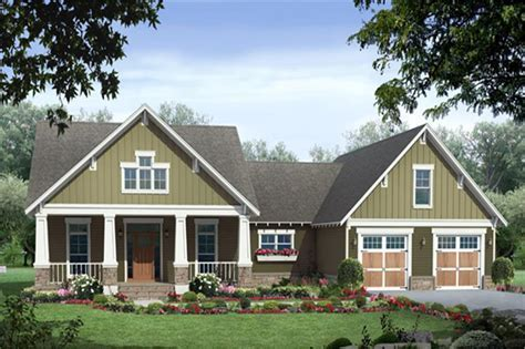 Craftsman Ranch House Plan with Daylight Basement #141