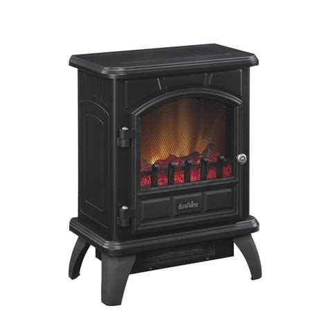 decor infrared electric stove shop duraflame 17 in w 5200 btu black metal flat wall