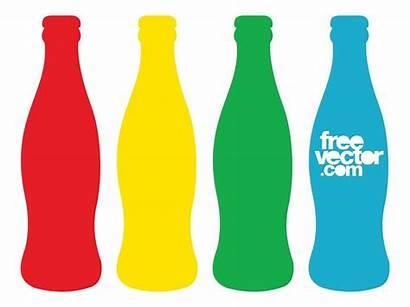 Bottle Cola Coca Clipart Coke Bottles Contour