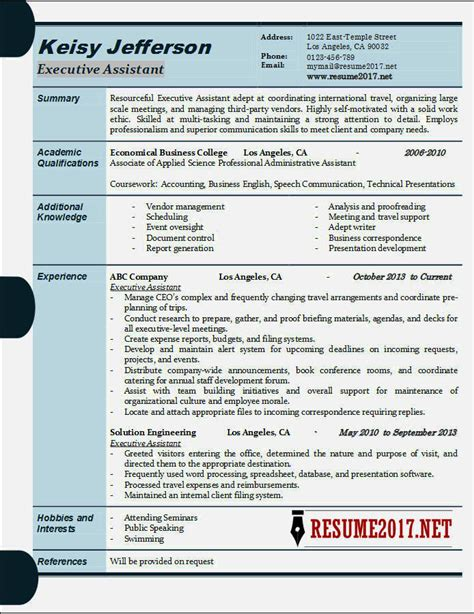 executive resume exles 2017 resume template cover