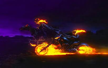 Rider Ghost Horse Wallpapers Pc Fire Bike