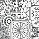 Complex Coloring Pages Abstract Sheets Printable Getdrawings sketch template