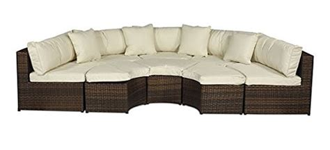 semi circle patio furniture cover monaco large rattan sofa set semi circle with small