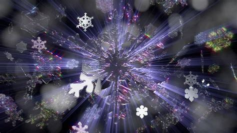 christmas lights snowflakes falling 1002 snowflakes falling with light effects loop stock footage