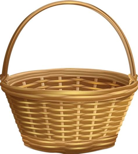 Basket Clipart Royalty Free Wicker Basket Clip Vector Images