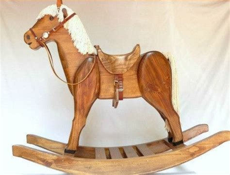 heirloom rocking horse early american brown stain