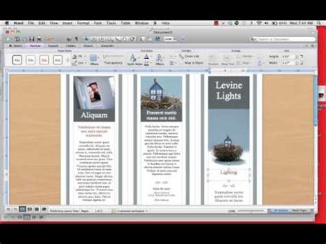 how to make a trifold pamphlet in word creating a tri fold brochure in indesign cs5