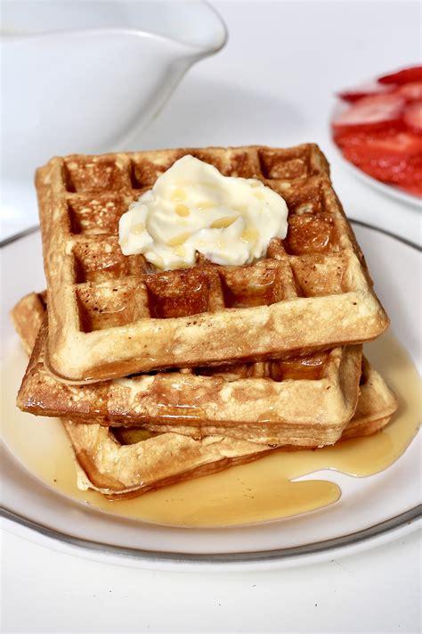 classic crispy waffles the bakermama