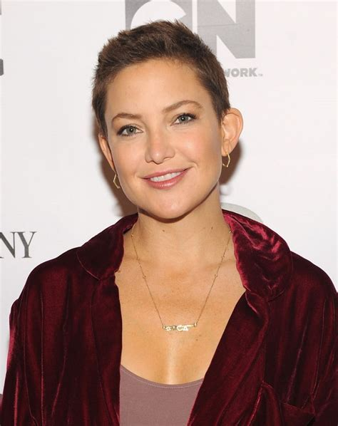 Kate Hudson's shaved head has grown out into an adorable