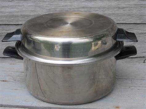 lot  vintage vollrath cookware stainless steel kitchen pans