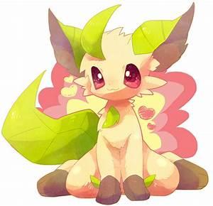 Leafeon Pokemon kawaii