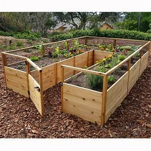 Outdoor Living Today 8 U0026 39  X 12 U0026 39  Cedar Raised Garden Bed