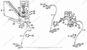 Honda Motorcycle 1976 Oem Parts Diagram For Front Master
