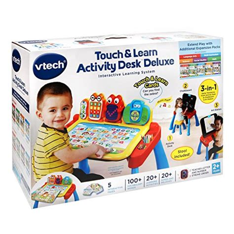 vtech touch and learn activity desk deluxe interactive learning system vtech touch and learn activity desk deluxe import it all
