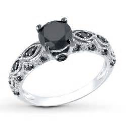 black womens wedding ring black ring 1 1 4 carats tw 10k white gold