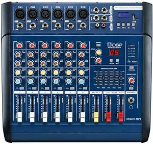 6 Channel Professional Audio Mixer For Stage Xr600f