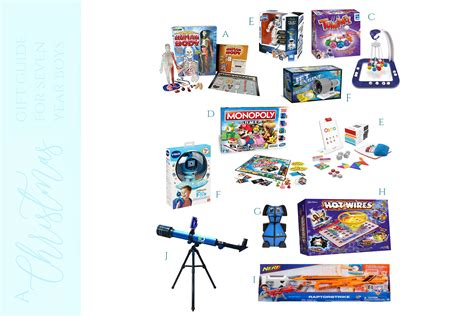 a christmas gift guide by a seven year old boy keep up