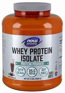 Now Sports Nutrition  Whey Protein Isolate  25 G With Bcaas  Creamy Chocolate Powder  5