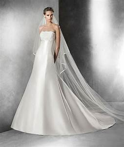 priscia a line wedding dress in mikado silk strapless With mikado silk wedding dress
