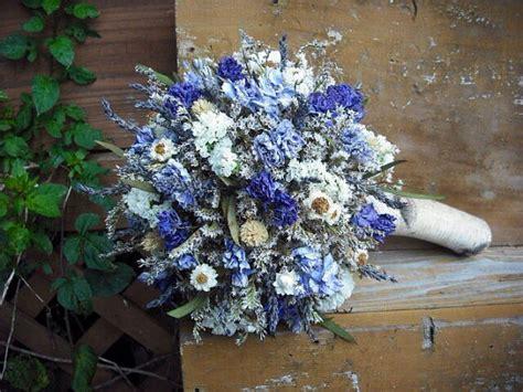 dried flower bridal bouquet  birch holder  bride