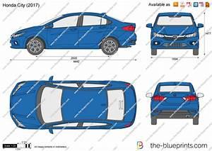 Honda City Vector Drawing