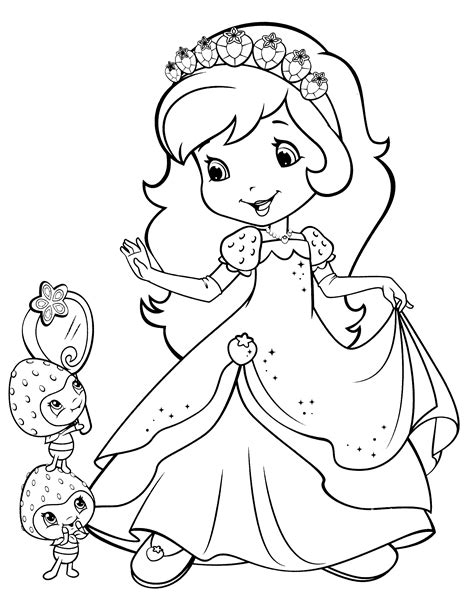 Print Strawberry Shortcake Coloring Pages Coloring Page