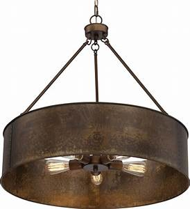 Kettle weathered brass drum pendant light quot wx h