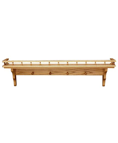 display shelving ideas wall shelf with pegs and railing amish direct furniture