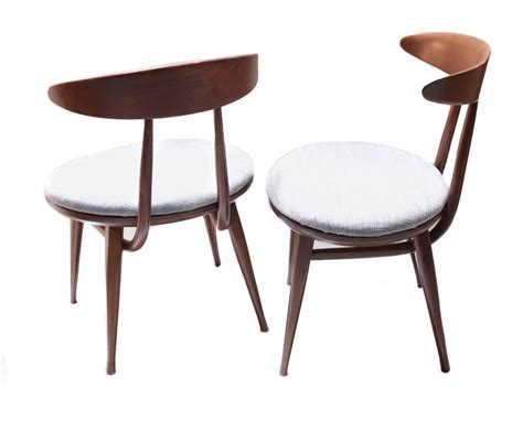 Pair Of Mid-century Upholstered Wood Chairs By Heywood Wakefield For Sale At 1stdibs Black Chair Sashes Kids Table And Chairs Set Healthy Back Office How To Build A For Sporting Events Big Tall Desk Casual Dining Hide Bed Sleeper