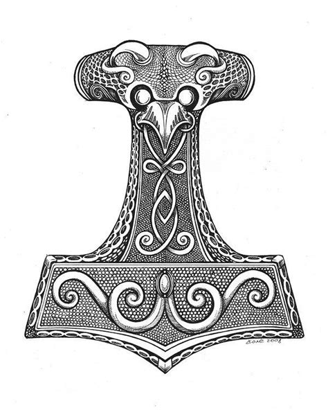 Pin by Nicholas Riley on cool   Norse tattoo, Thors hammer, Thor hammer tattoo