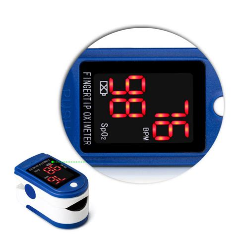 Fingertip Oximeter Blood Oxygen Saturation Monitor - White
