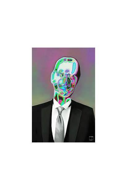 Digital Face Melting Psychedelic Artists Melt Phazed