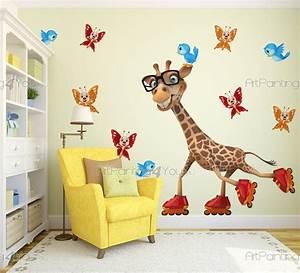stickers chambre bebe girafe 2524fr With chambre bébé design avec livraison de fleurs à l étranger