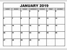 2019 January Calendar Free – Calendar Template Letter