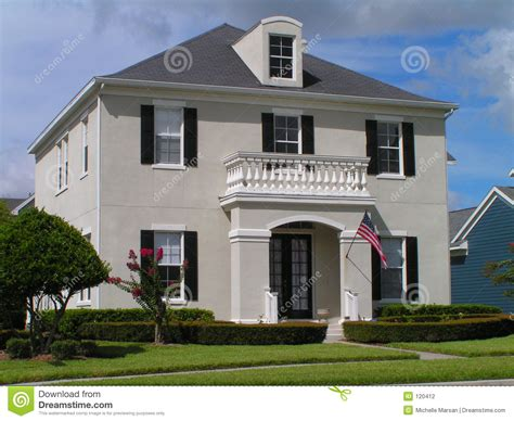 colonial house plan house stock photography image 120412